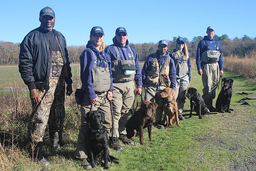 Detector dogs with their handlers from the Delmarva Peninsula.