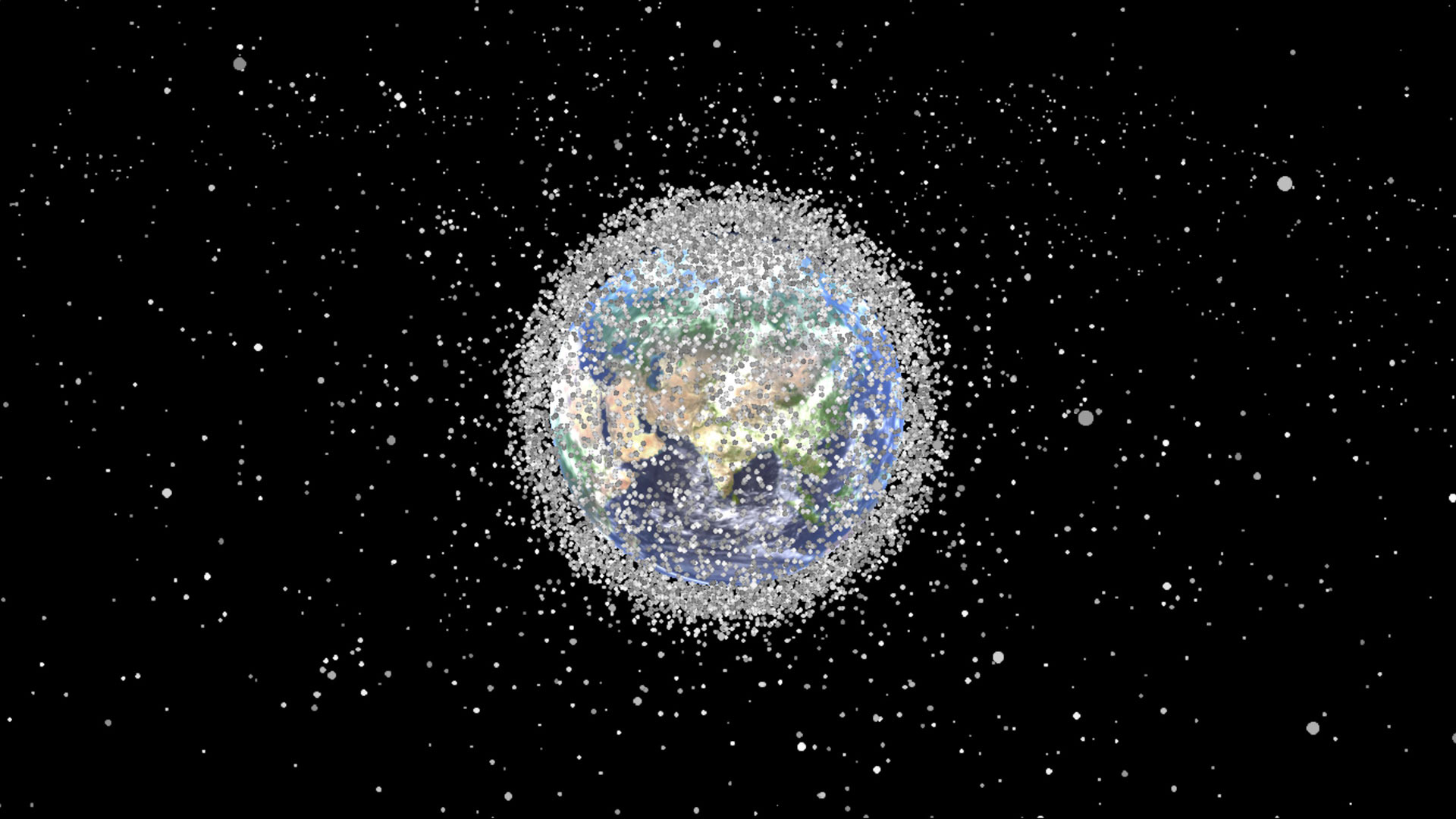 this graphic shows the massive growth of space junk