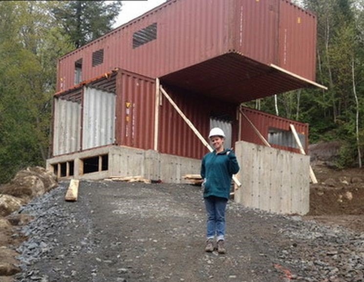 This Ingenious Lady Built Her Home Out Of Shipping Containers You