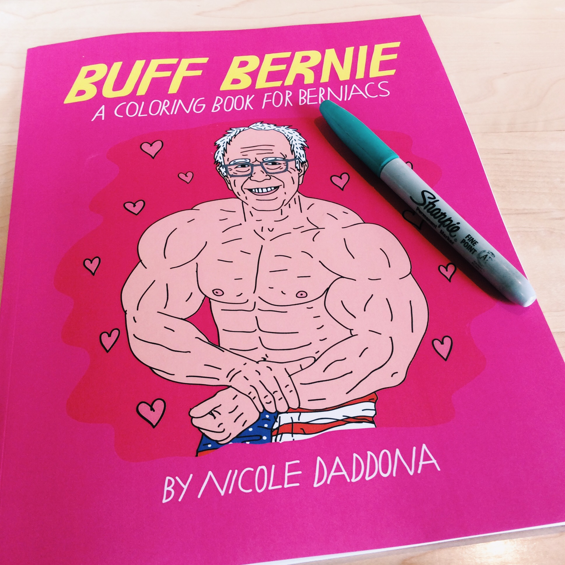 There is now a buff Bernie Sanders coloring book. Just FYI.